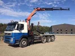 camion conteneur Volvo FM 410 - 8x4/4 - EURO 4 - 231.119 Km + PALFINGER 12 T/M KRAAN 2009