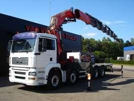 crane truck MAN TGA 41.480 8x4 - CRANE FASSI 1100 AXP 28 + JIB 2005
