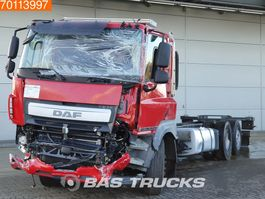chassis cab truck DAF CF 410 Unfall 6X2 Intarder Lift+Lenkachse Euro 6 2014
