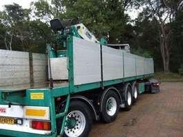 flatbed semi trailer Kwb kraanoplegger 2007