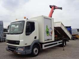 camion à benne basculante DAF LF 45.180 + Manual + kipper + palfinger PK 7501 2006