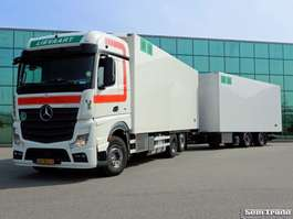 camion refrigerato Mercedes Benz ACTROS 2845 6X2 EURO 6 FRIGO  COMBI 50 CC 2x LIFT 2015