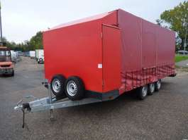 closed box trailer E.S.V.E tridem plateauwagen met opbouw 2010