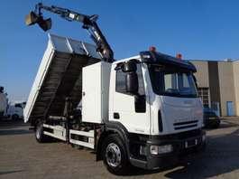 camion à benne basculante Iveco EUROCARGO 160 E 22 + KIPPER + MKG HLK 96 CRANE + MANUAL + EURO 5 2009