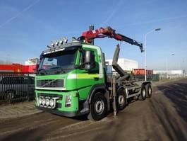 container truck Volvo FM 12 420 8 X 4 !! HAAK + HMF CRANE !! 2002
