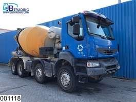 concrete mixer truck Renault Kerax 370 Dxi 8x4, Liebherr, Steel suspension, Manual,  Hub reduction, e... 2007