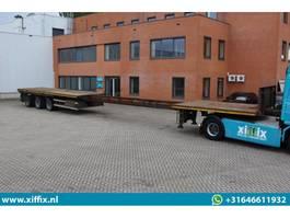 flatbed semi trailer Nooteboom 3-ass. Vlakke uitschuifbare oplegger // 3x gestuurd 1997