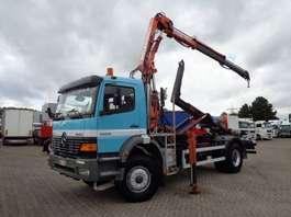 caminhão guindaste Mercedes Benz Atego 1828 + Manual + Pto + Crane + Hook 1999