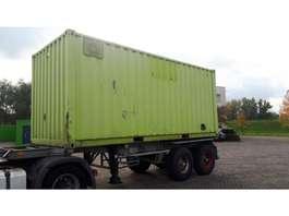 semirremolque de chasis contenedor Pacton 20 ft. bladgeveerd container chassis 1989