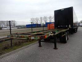 Container-Fahrgestell Auflieger Flandria 20 FT Chassis / Steel suspension / Double montage 1984