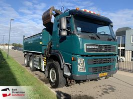 tipper truck > 7.5 t Terberg FM 1350 6x6 euro 5 kipper met HMF Z-kraan 2010