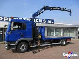 crane truck MAN TGM 15.250 Euro 5 Open bak met kraan 2012