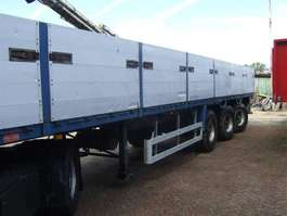flatbed semi trailer Pacton kraanoplegger. 2000