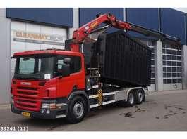 tipper truck Scania P 320 HMF 24 ton/meter laadkraan 2010