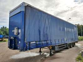 sliding curtain semi trailer Schmitz Cargobull Hefdak - Schuifdak - Galvanised chassis - 4.40m HIGH 2007