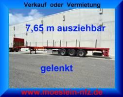 other full trailers Floor FLUO-18-27F1  3 Achs Auflieger, 7,65 m ausziehbar,gelenkt 2007