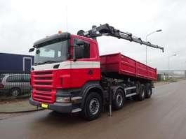 tipper truck Scania R 420 8 X 4 HIAB 288FP - 5 HIPRO 2007