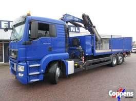 crane truck MAN TGS 26.360 6X2 Euro 5 Platte bak met kraan 2011