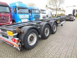 container chassis semi trailer Kögel S 24-2 3UNITS SAF ASSEN LIFT-AS PORT40 SIMPLEX20 2016