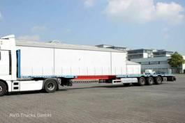 flatbed semi trailer HRD SPTM3N Plattform ausziebar 1x40