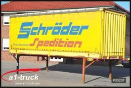 conteneur à caisse mobile à rideau coulissant Krone 7.45, Bordwand + Schiebeplane, Bordwandsider 2004