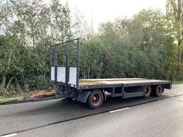 flatbed full trailer Draco 3 asser semi aanhanger liftas twistlocks 2003