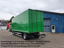 closed box trailer Groenewegen 2 As Aluminium Gesloten met Doorlader syteem 2011
