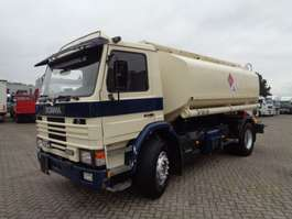 tank truck Scania 93M 250 + Manual + 4 compartments 14000LITER 1991