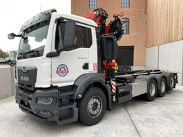 container truck MAN New Generation MAN TGS 35.470 8x4-4 BL-NN kraan+containerhaak 4x 2020