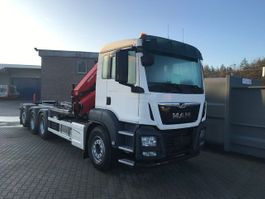 container truck MAN TGS 35.470 8x4-4 BL-M kraan+containerhaak 2x 2020