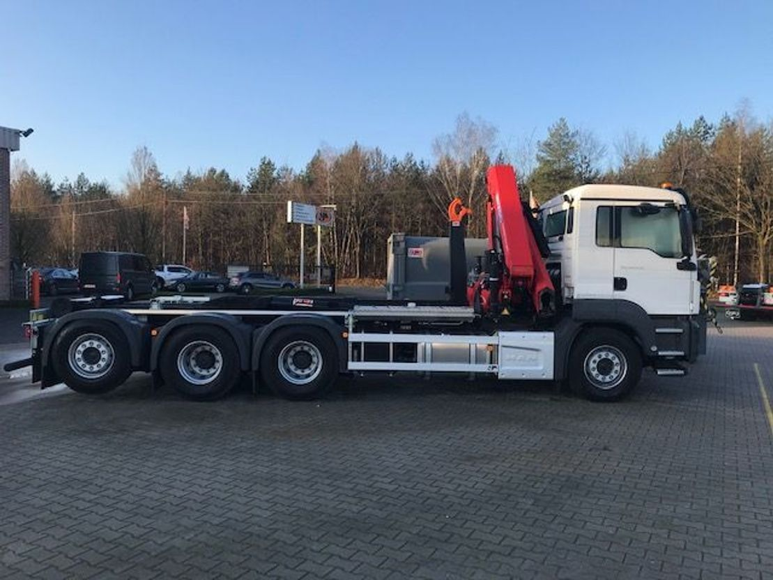 Container-LKW MAN New Generation MAN TGS 35.470 8x4-4 BL-NN kraan+containerhaak 2021