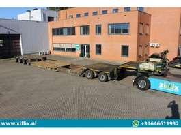 lowloader semi trailer Nooteboom 2 bed 4 Uitschuifbare dieplader met afn. nek // Dolly met PENDEL assen 1997