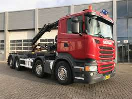 Container-LKW Scania R410 / 8x2 / Lift Axle / HIAB Crane / Container System 2014