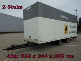 closed box trailer Jumbo MEGA -TM120 Wipkar Gesloten - 2 Stuks 1990