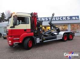 camion conteneur MAN TGS 26.360 Euro 5 Haakarm met kraan 2013