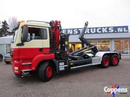container truck MAN TGS 26.360 Euro 5 Haakarm met kraan 2013