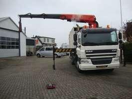 garbage truck DAF FAN CF75 HALLER VUILNISWAGEN MET 23 TON KRAAN 2011