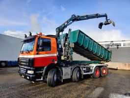 Container-LKW DAF CF 85 380 8x2/6 DagcabineEuro3 - Tipper - HIAB 111B-2 Duo - Cable system - Man... 2006