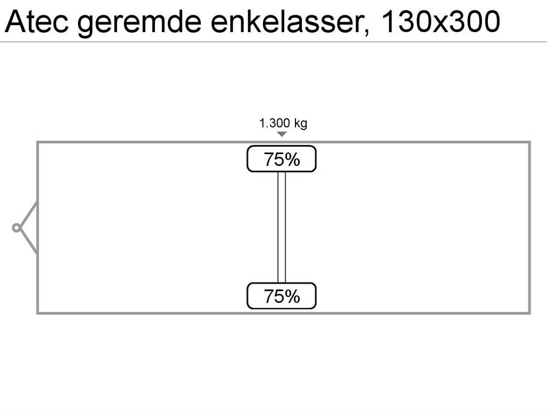 andere PKW-Anhänger Atec geremde enkelasser, 130x300 2000