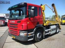 samochód do przewozu kontenerów Scania 310 hyva lift 14 ton CNG aardgas 2012