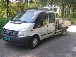 véhicule utilitaire léger à plateforme Ford Transit dubb.Cab. Fassi F28b22 laadkraan 100 T350 TRANSIT OPEN LAADBAK M... 2009