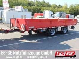 flatbed full trailer Tandemanhänger - Bordwände - Heckausschub 2017
