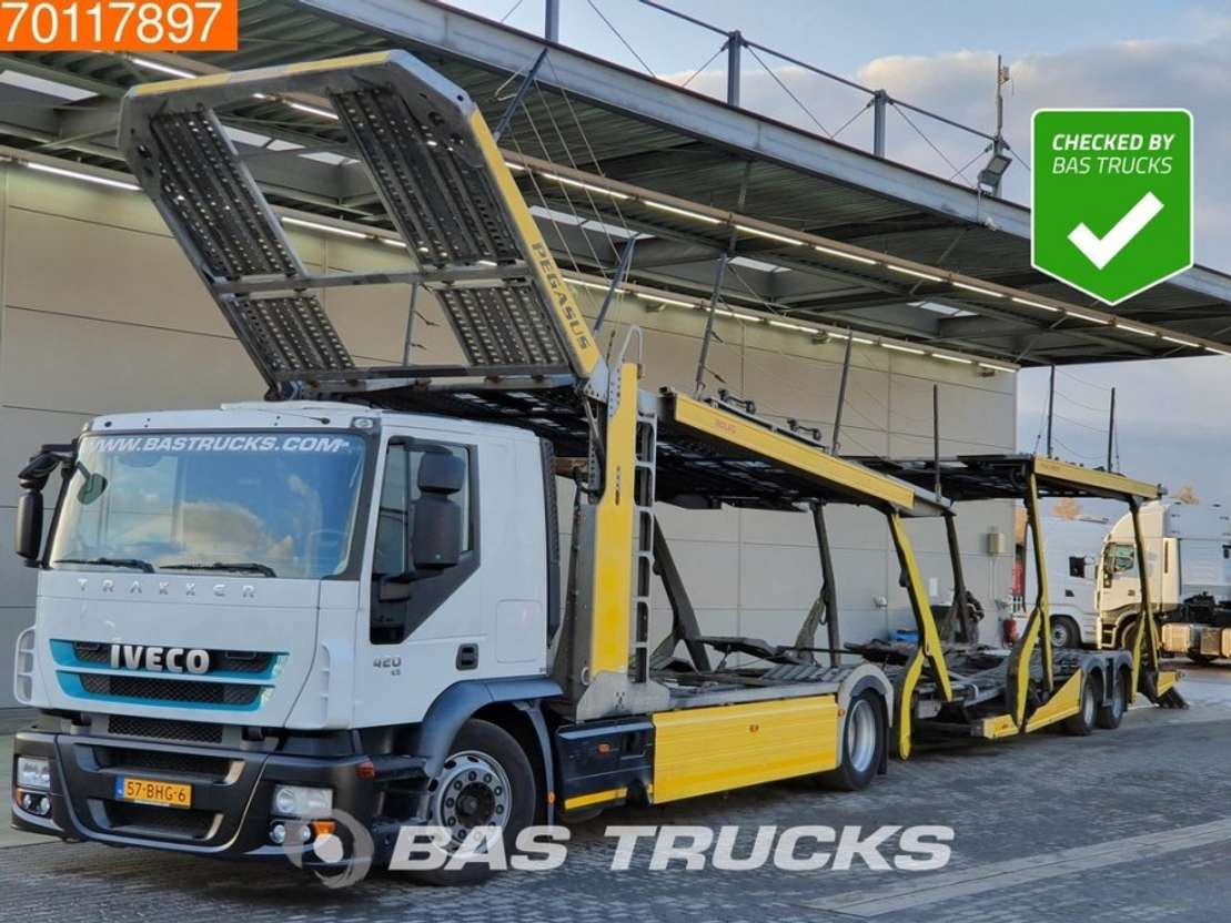 Iveco Stralis At180s42 4x2 Intarder Standklima Euro 5 Rolfo Aufbau Car Transporter Truck Trucksnl Com