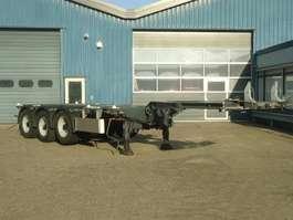 Containerfahrgestell Auflieger Pacton T3-010 Multi chassis  Kop Midden en Achterschuifer Liftas zeer mooi 2007