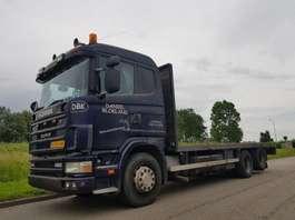 closed box truck Scania R 144 460 6x2 1998