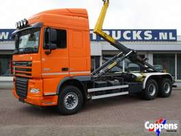 camion portacontainer DAF XF 105.460 6x4 Haakarm Euro 5 2014