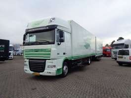 closed box truck DAF XF 105.410 + Combi floor + Euro 5 2009