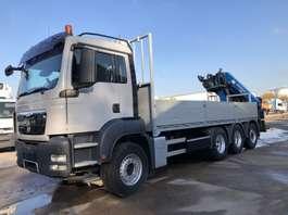 drop side truck MAN TGS 35.440 8X4 Tridem + Kraan HMF 2200 K4 2009