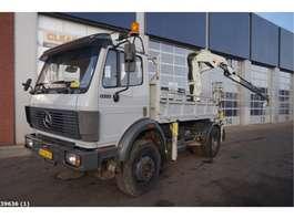 camion grue Mercedes Benz 1722 AK 4x4 Pesci 19 ton/meter laadkraan 1991