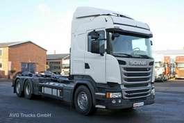 roro tractor unit Scania R 410 6X2*4 Retarder Lenkachse HIAB Multilift 2015